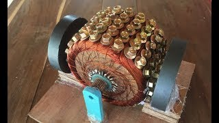 How to make a powerful DC motor using 120 screws , science school project 2017 | Kholo.pk