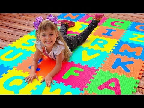 Abc alphabet phonics songs for kids with Arina and Toys Education Activity