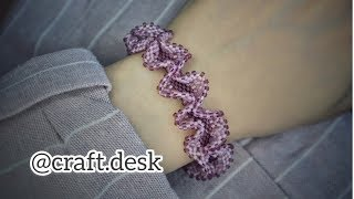 Ruffled Peyote Bracelet