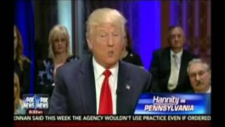 Sean Hannity Ignores Trump's Sexist Attacks Against Hillary Clinton