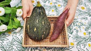 素食家常菜料理│南瓜這樣做太好吃了,加一條地瓜,讓你暖心又暖胃,上桌馬上吃光光│Vegan Recipe │EP142