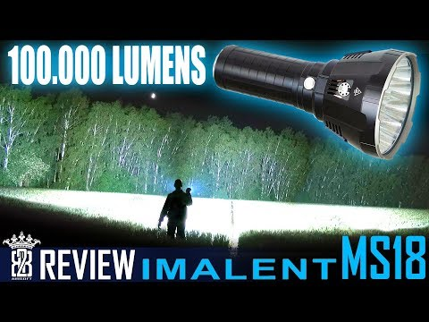 Imalent MS18 - 100,000 Lumen + 1350 Meter WORLDS BRIGHTEST Flashlight