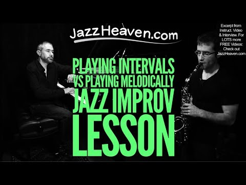 *Jean-Michel Pilc* on Playing Intervals vs. Playing Melodically *Jazz Improvisation* JazzHeaven.com online metal music video by JEAN-MICHEL PILC