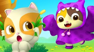 Baby Kitten Pretend as Big Monster | Color Song | Nursery Rhymes | Baby Songs | Education | BabyBus