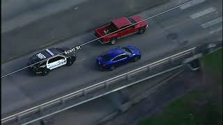 Police use pit maneuver to end chase in south Houston