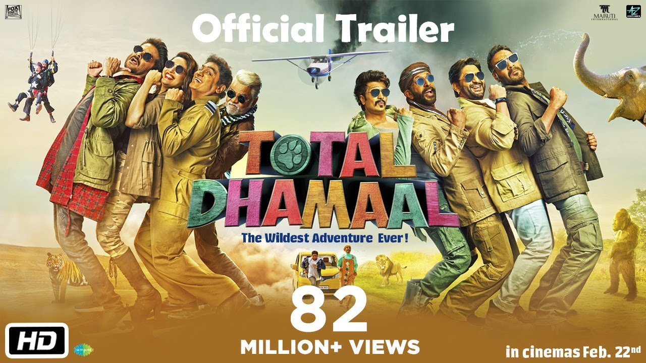 Total Dhamaal Trailer Released | Movie Will Release on 22nd Feb