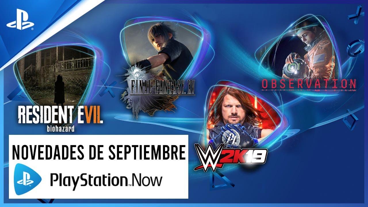 Resident Evil 7 y Final Fantasy XV encabezan las novedades de PS Now en septiembre