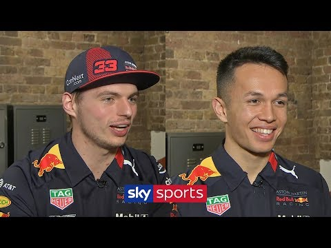 VIdeo | First interview Verstappen and Albon in 2020
