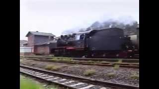 preview picture of video 'Dampflok 24083 bei der Einfahrt in Bornum/Harz am 23.07.2000'