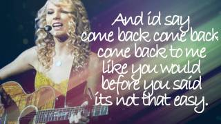 Taylor Swift - If This Was a Movie Official Lyrics