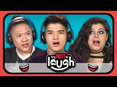 YouTubers React To Try To Watch This Without Laughing or Grinning #10