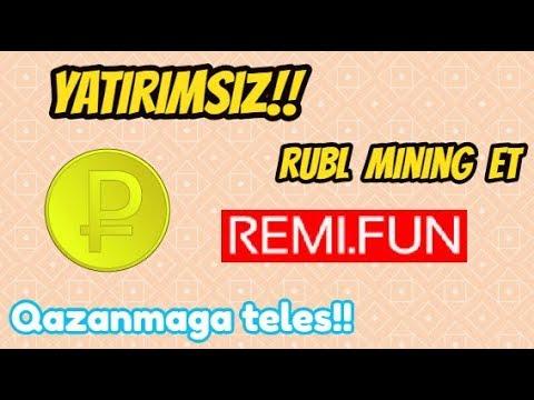 REMI.FUN YATIRIMSIZ RUBL MINING SAYTI