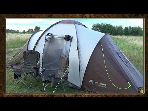 Обзор на кемпинговую палатку Outventure twin sky 4 ,складное кресло Outventure , рыбалка на донки