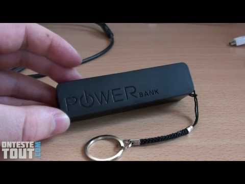 "Lunaris2142 teste la batterie externe USB ""POWER bank"""