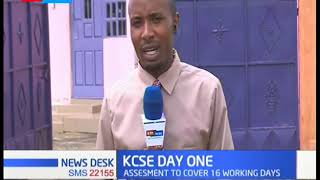 Candidates in Kakamega County commence their KCSE exams on time