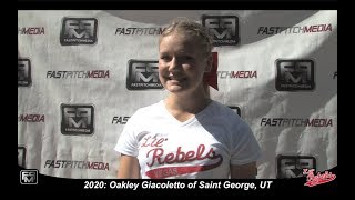 2020 Oakley Giacoletto Pitcher/Utility Softball Skills Video - Lil Rebels