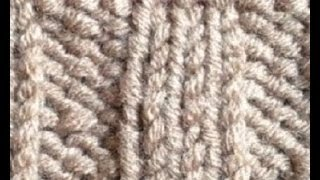 How to Knit the Rib or Ribbing Stitch: Knit three Purl three Pattern #94│by ThePatternFamily
