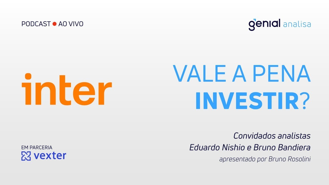 Thumbnail do vídeo: Banco Inter – Vale a pena investir? | Podcast Genial Analisa