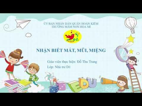 Cô giáo Đỗ Thu Trang - Trường mầm non Họa Mi với hoạt động nhận biết mắt - mũi - miệng