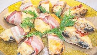 Фаршированные шампиньоны с беконом – вкусный рецепт праздничной горячей закуски!