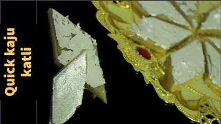 Kaju Katli - Diwali Sweets Recipe - Diwali Recipes - Festival Recipe - Burfi Recipe - Sweets Recipe