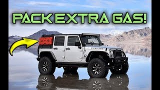 How We Mount Extra Gas To The Outside Of Our Jeep Wrangler For Overlanding Trips