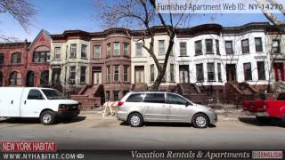 preview picture of video 'Video Tour of a 1-Bedroom Furnished Apartment in Crown Heights, Brooklyn'