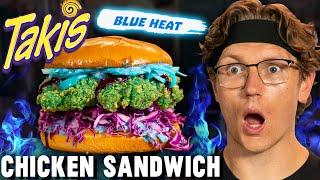 Josh Makes A Blue Takis Fried Chicken Sandwich