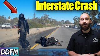 This Motorcycle Crash Can Easily Happen To You (Motorcycle Braking Mistake)