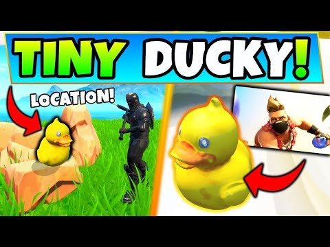 SEARCH THE TINY RUBBER DUCKY AT THE SPOT IN THE SUMMERTIME SPLASHDOWN SCREEN (Fortnite)