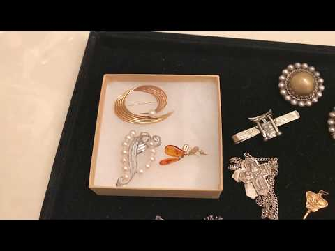 Estate Sale Haul Finds #43 – Mikimoto Pearl Brooch, 10k & 14k & Sterling Jewelry