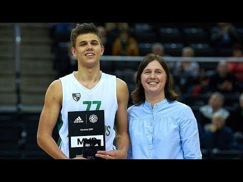EB ANGT Kaunas: MVP Kerr Kriisa, U18 Zalgiris Kaunas, Highlights
