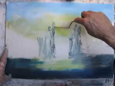 The Gates of Argonath LOTR Themed Painting by Naci Caba