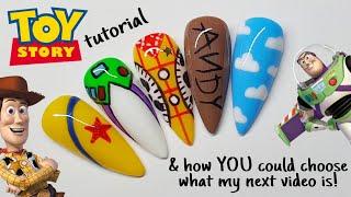 🚀 TOY STORY | GEL POLISH DESIGN | Disney Nail Art Tutorial - How To