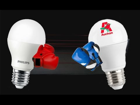 #REA 10 Review/análisis de dos bombillas LED E27 Philips vs Alcampo (Auchan)