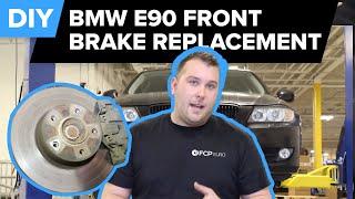 DIY! BMW E90 Front Brake Replacement (328i Pads, Rotors & Sensors) FCP Euro