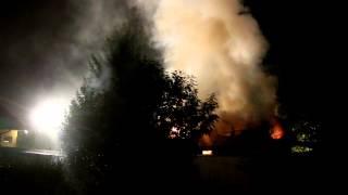 Pożar domu w Krośnie