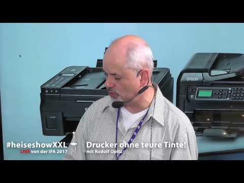 #heiseshowXXL: Drucker ohne teure Tinte!