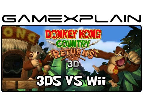 Donkey Kong Country Returns 3D Vs Wii Comparison MVGN