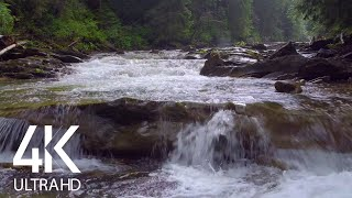 8 HOURS Relaxing Water Sounds - 4K Nature Soundscape Video - Carpathian's Water, Ukraine. Part 1