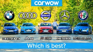 BMW 3 Series v Audi A4 v Merc C-Class v Volvo S60 v Alfa Giulia – which is best?