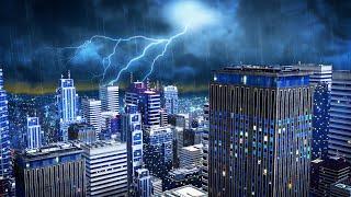 Sleep Sounds Rain and Thunderstorm White Noise | Fall Asleep with Rainstorm Sound Masking | 10 Hours