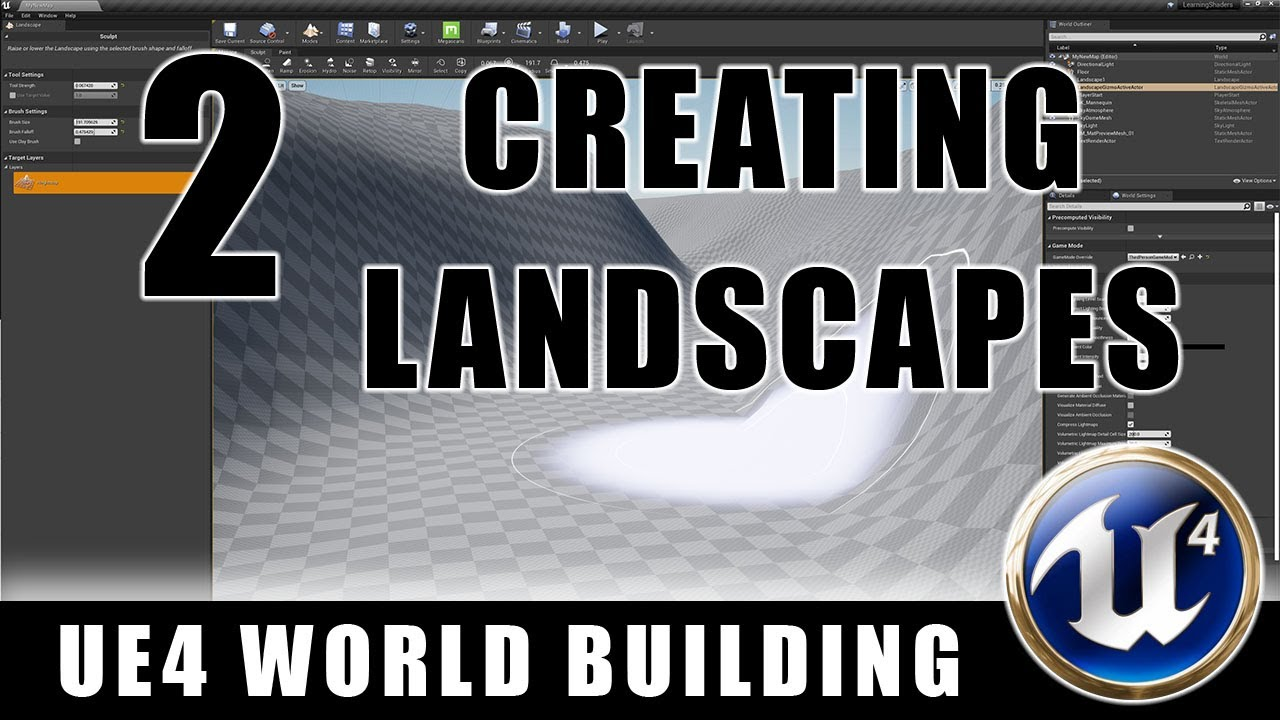 Creating Landscapes - Building Worlds In Unreal - Episode 2