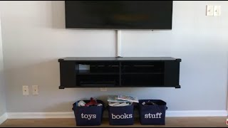 How To Hide TV Wires/cords/cables - Organize Entertainment Center - FAST & EASY!