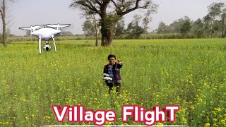 Journey to Village with Phantom 4 pro drone ????|| Mustard farm view || DJI Phantom 4 pro wind test