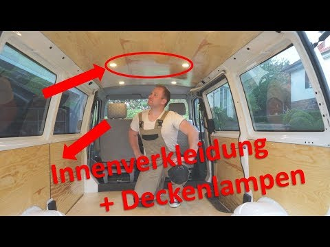 VW T4 Camper Umbau | Innenverkleidung + Deckenlampen | F.02 #Vanlife