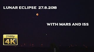 Lunar Eclipse with Mars, Moselle Valley 2018/07/27 - Germany 4K Travel Channel