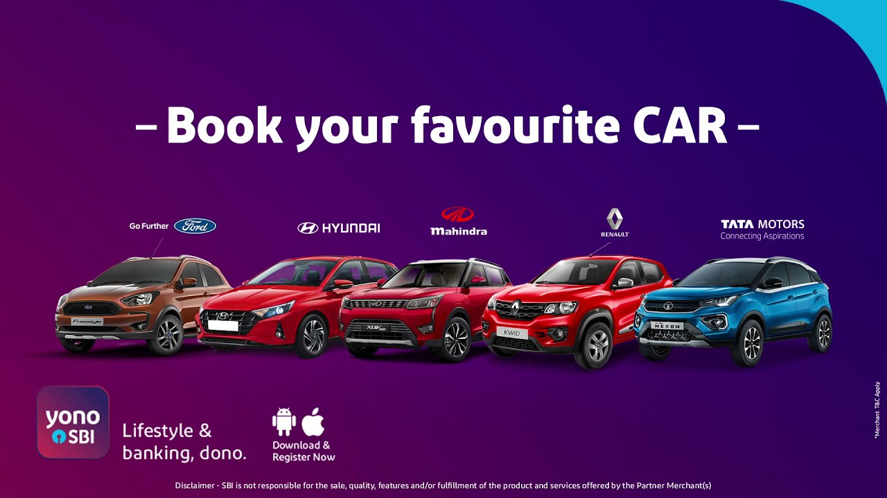 Unique deals * on scheduling Automobile, Bikes & availing Auto loan through YONO SBI thumbnail