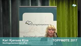 Toppmøte 2017 – Kari Kjønaas Kjos