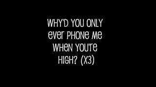 Arctic Monkeys - Why'd You Only Call Me When You're High Lyrics
